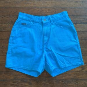 Vintage Lee High-Waisted Blue Shorts